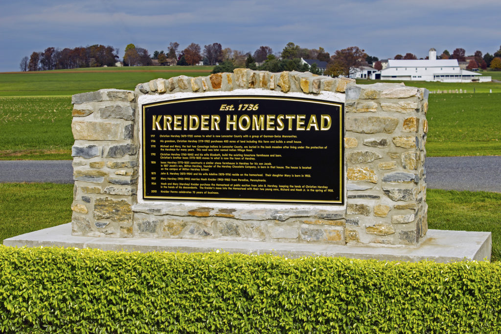 kreider homestead stone sign